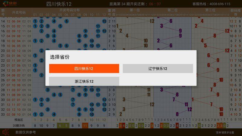 快乐12电视图表TV版